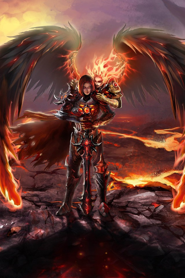 Best Dark Wallpapers For Iphone X Might And Magic Heroes Vi Fire Wallpaper Allwallpaper
