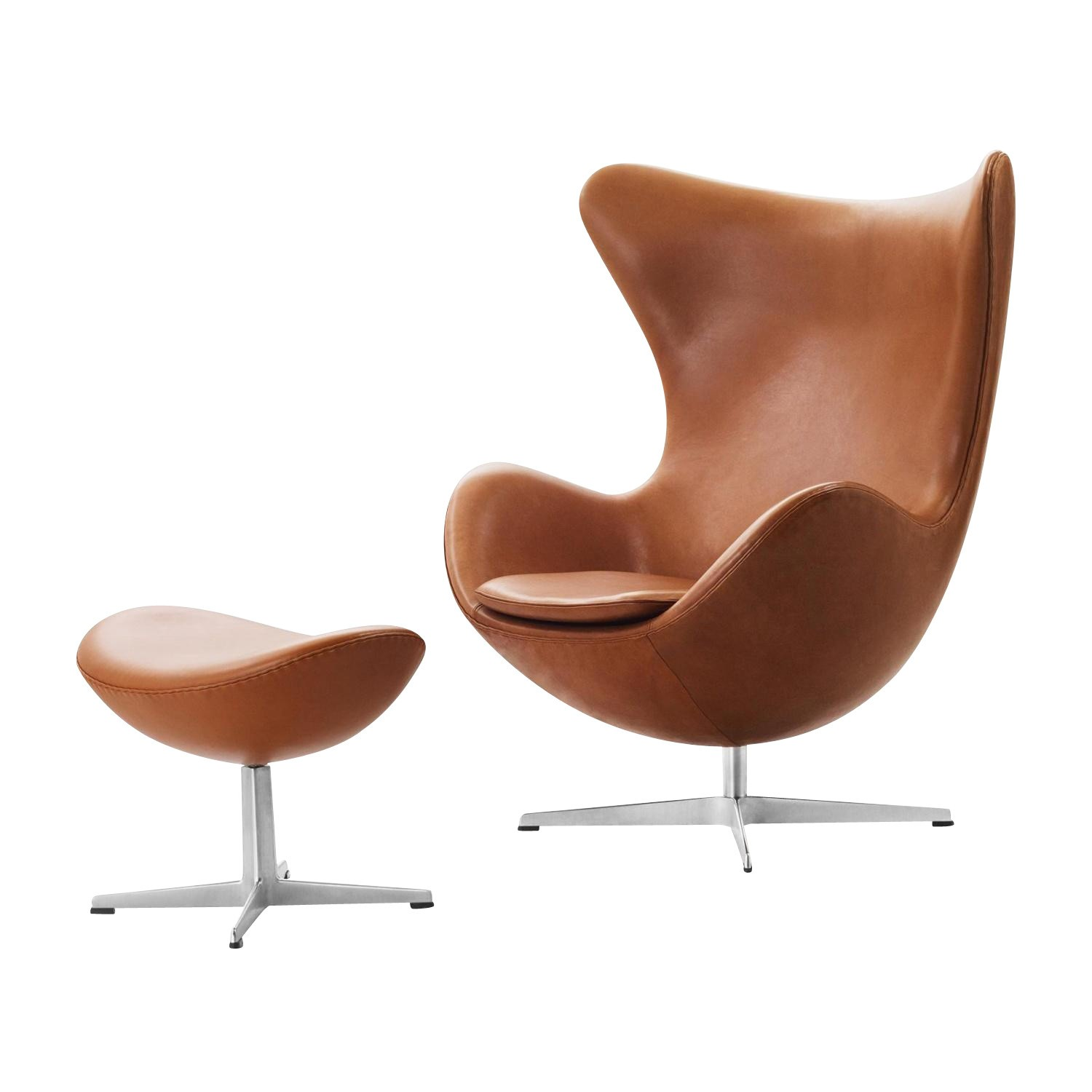 Sessel Mit Fusshocker Aktion Egg Chair Das Ei Sessel Hocker Leder