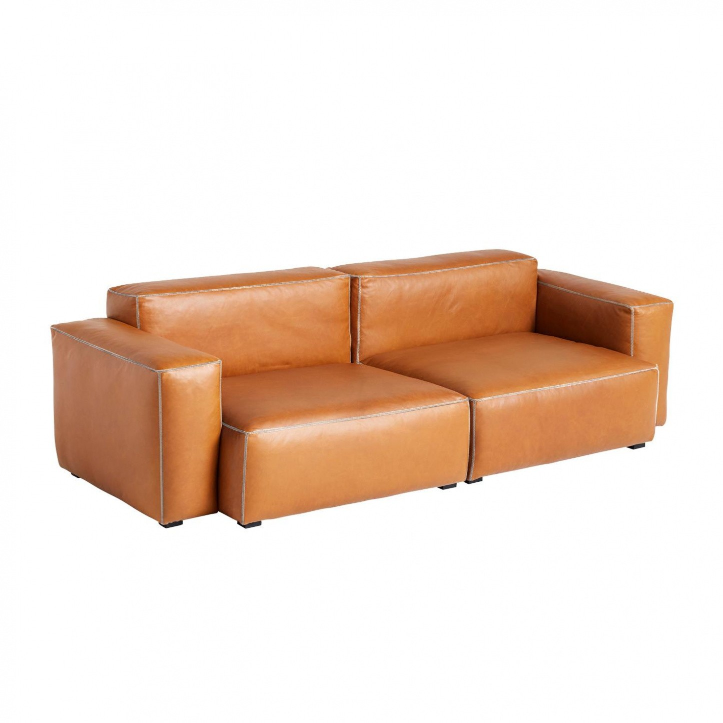 Hay Mags Soft 2 5 Seater Sofa Low Armrest Leather Ambientedirect