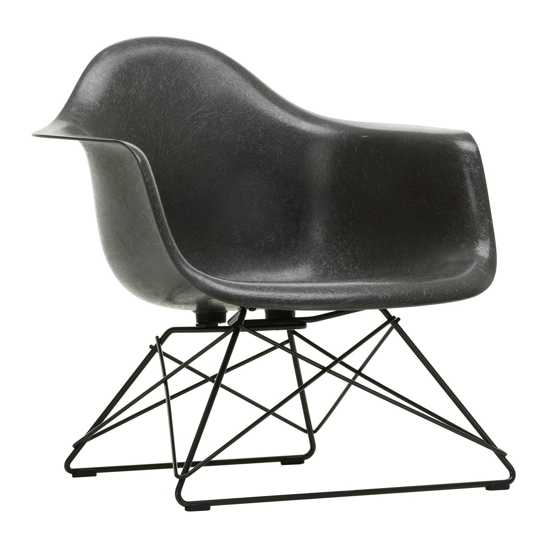 Chair Eames Vitra Eames Fiberglass Armchair Lar Black Base | Ambientedirect