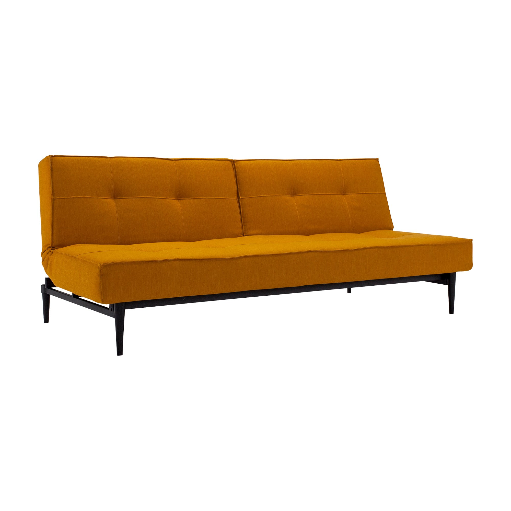 Yellow Schlafsofas Innovation Splitback Styletto Sofa Bed Black Wood 210x91cm | Ambientedirect