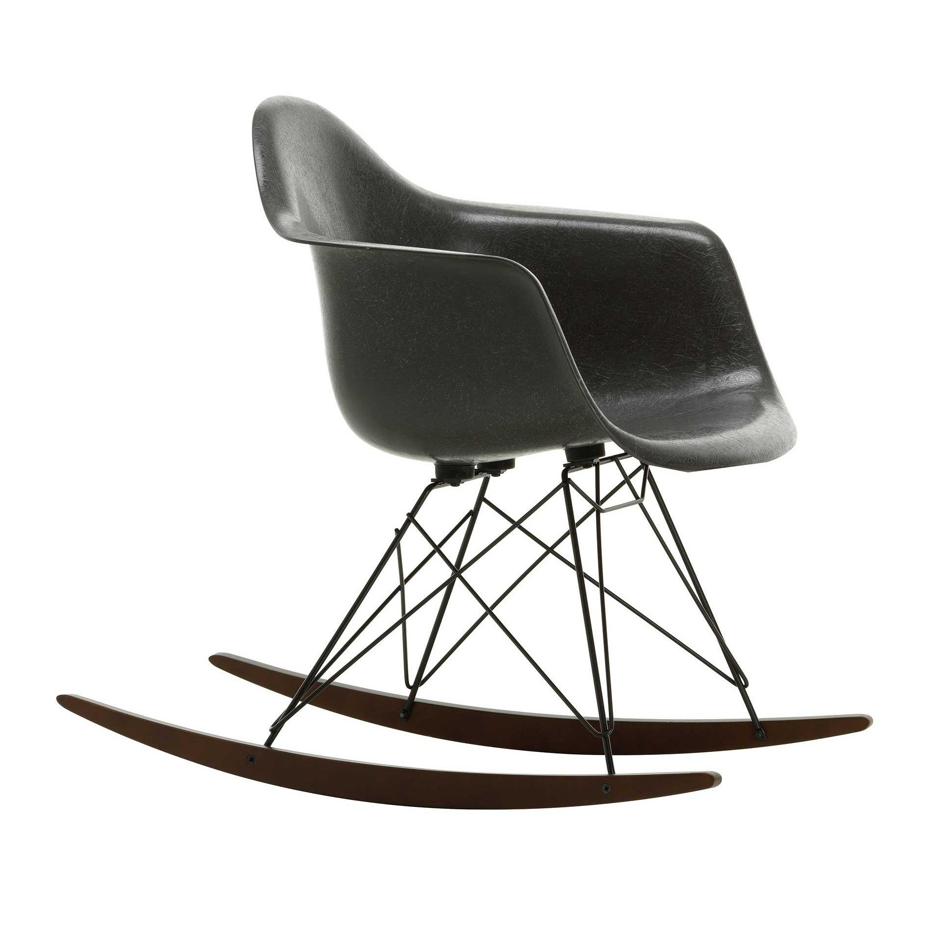 Chair Eames Vitra Eames Fiberglass Armchair Rar Rocking Chair Black Base | Ambientedirect