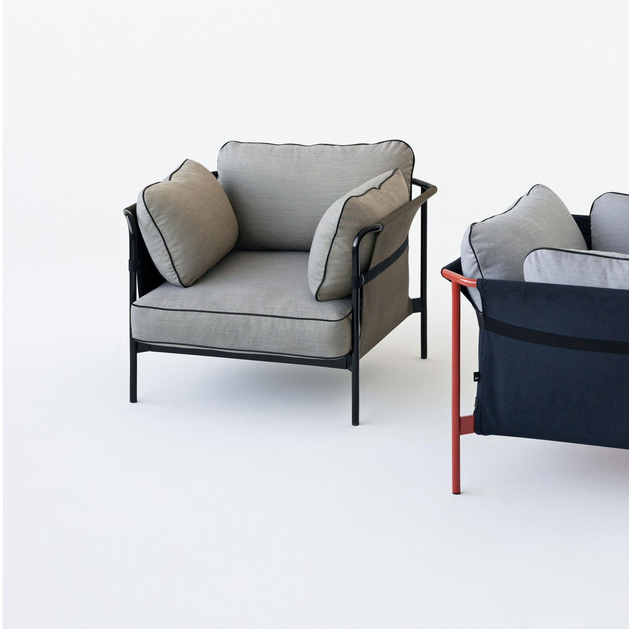 Sessel Up 2000 Hay Can Armchair Frame Charcoal Ambientedirect