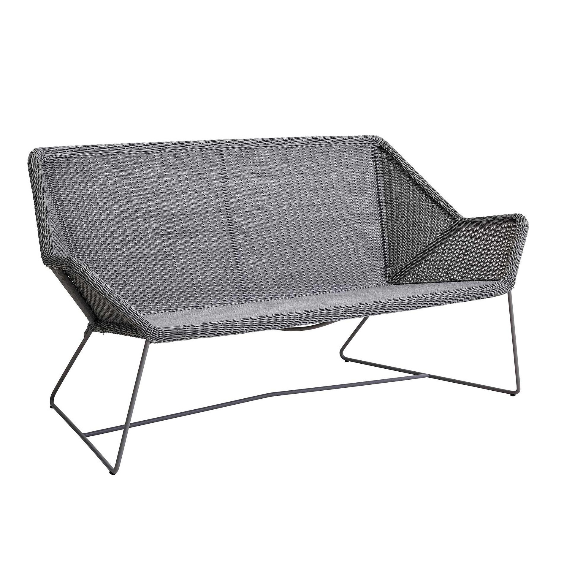 Lounge Sofa 2 Sitzer Outdoor Cane-line Breeze Outdoor Lounge Sofa 2 Seater | Ambientedirect