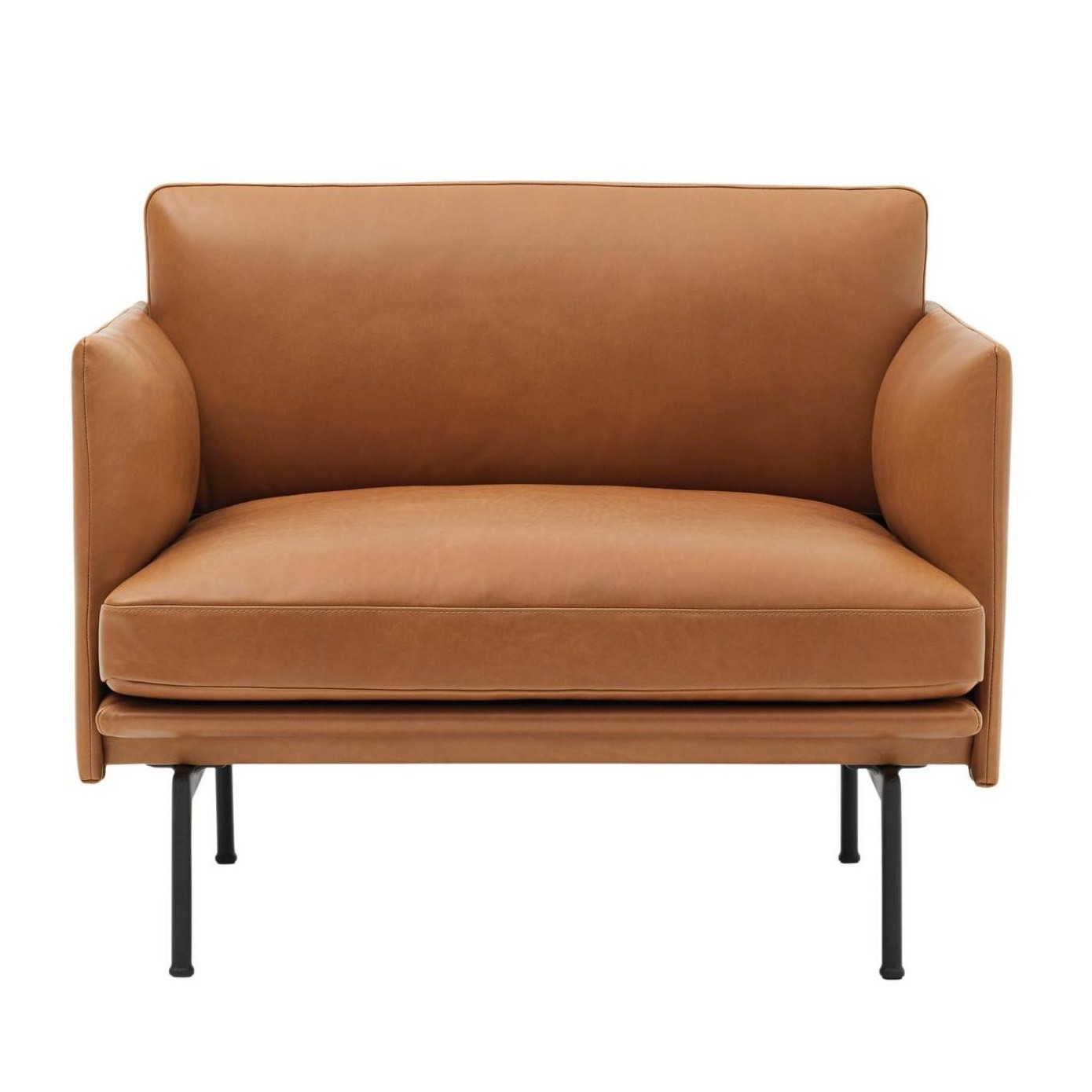 Sessel Cognac Outline Armchair