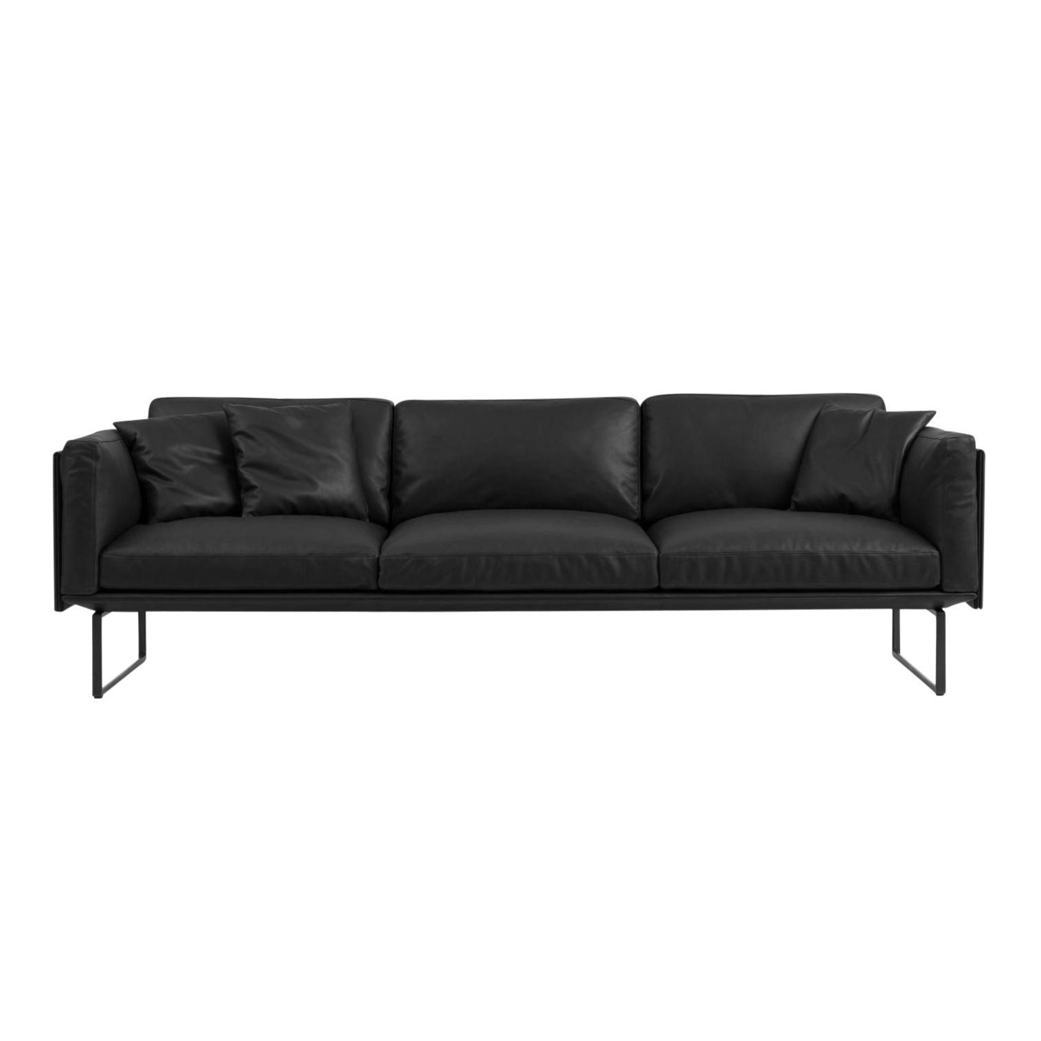 Cassina 8 Piero Lissoni 3 Seater Leather Sofa Ambientedirect