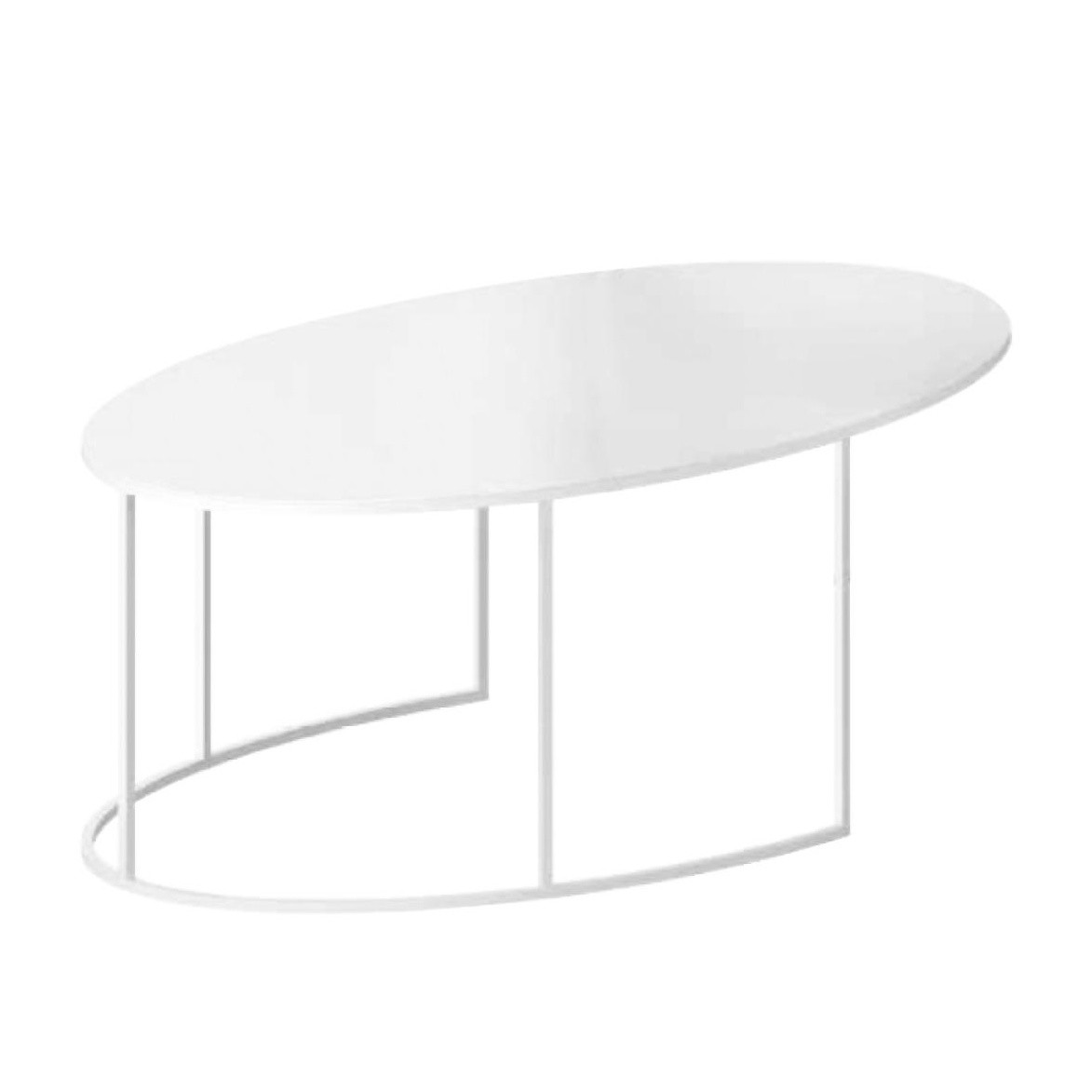 Zeus Slim Irony Oval Couchtisch | AmbienteDirect