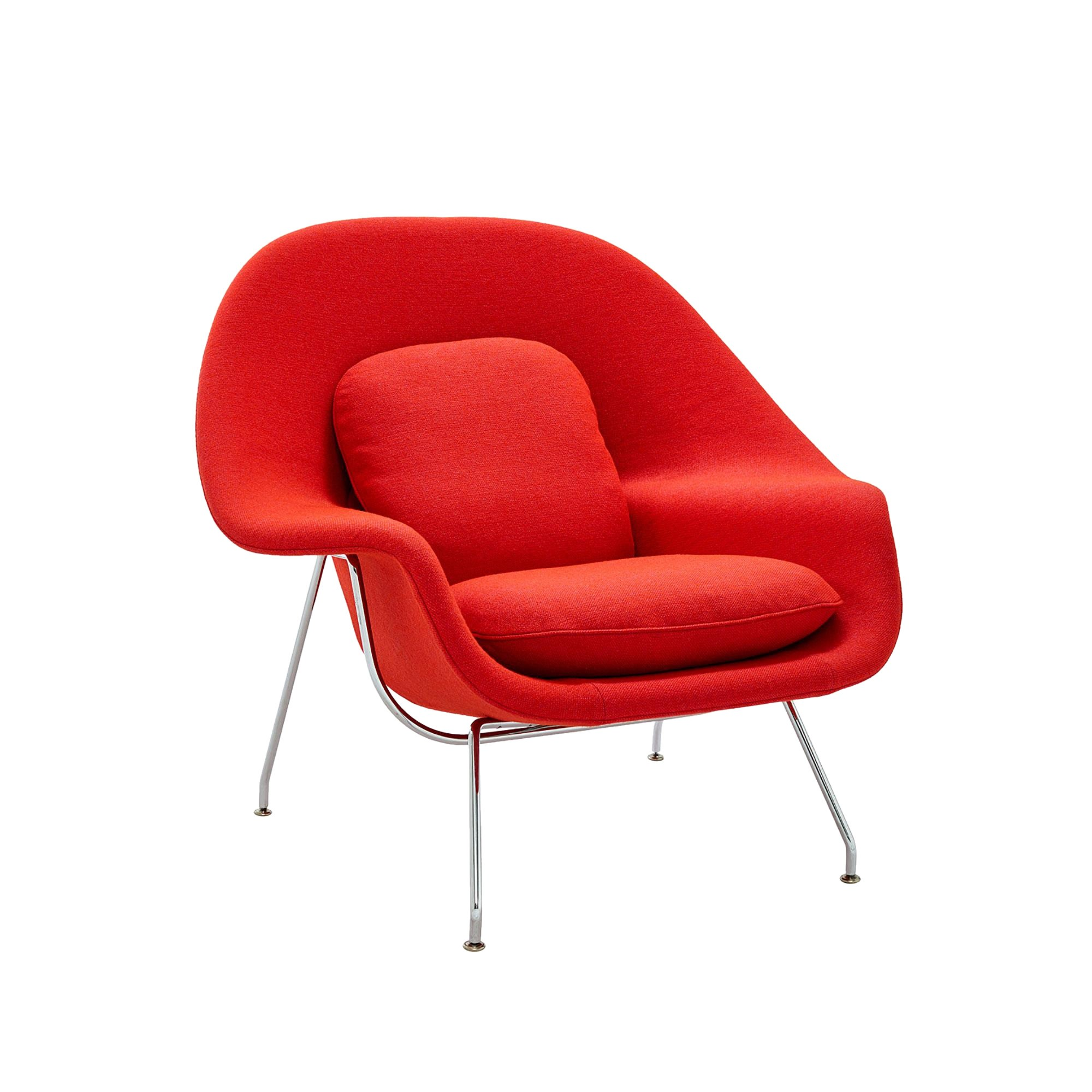 Relax Ledersessel Womb Chair Relax Sessel Gestell Chrom