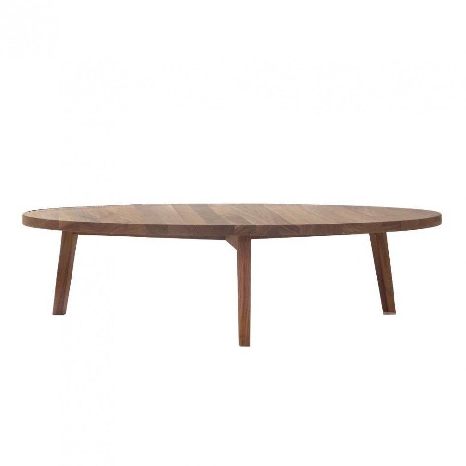 Couchtisch Industrial Oval Gray 49 Coffee Table