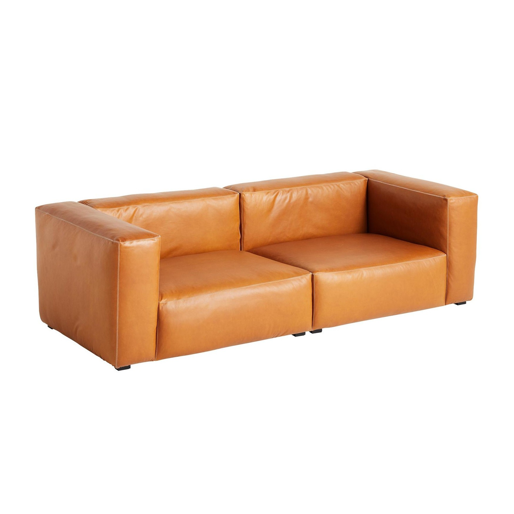 Hay Mags Soft 2 5 Seater Sofa Leather 238x103 5x67cm Ambientedirect