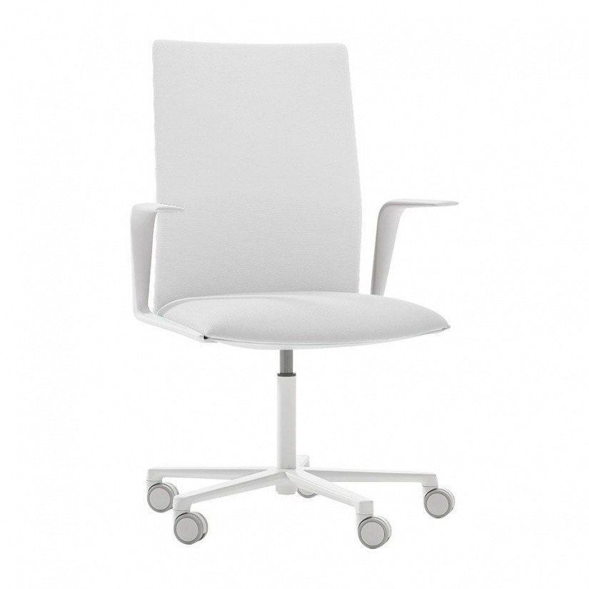 Panton Chair Weiß Arper Kinesit 4825 Office Chair With Armrests | Ambientedirect