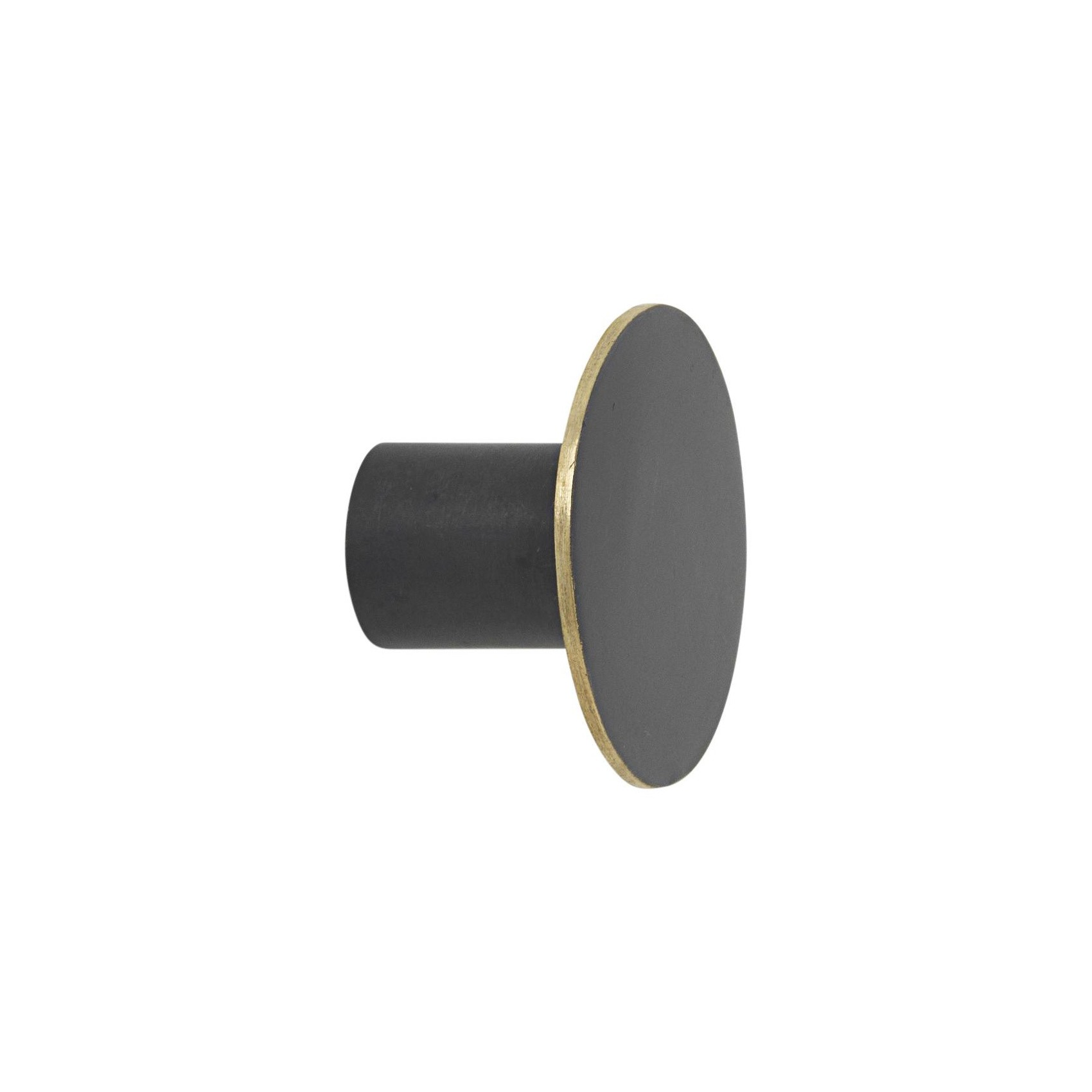 Black Wall Hooks Ferm Living Black Brass Wall Hook