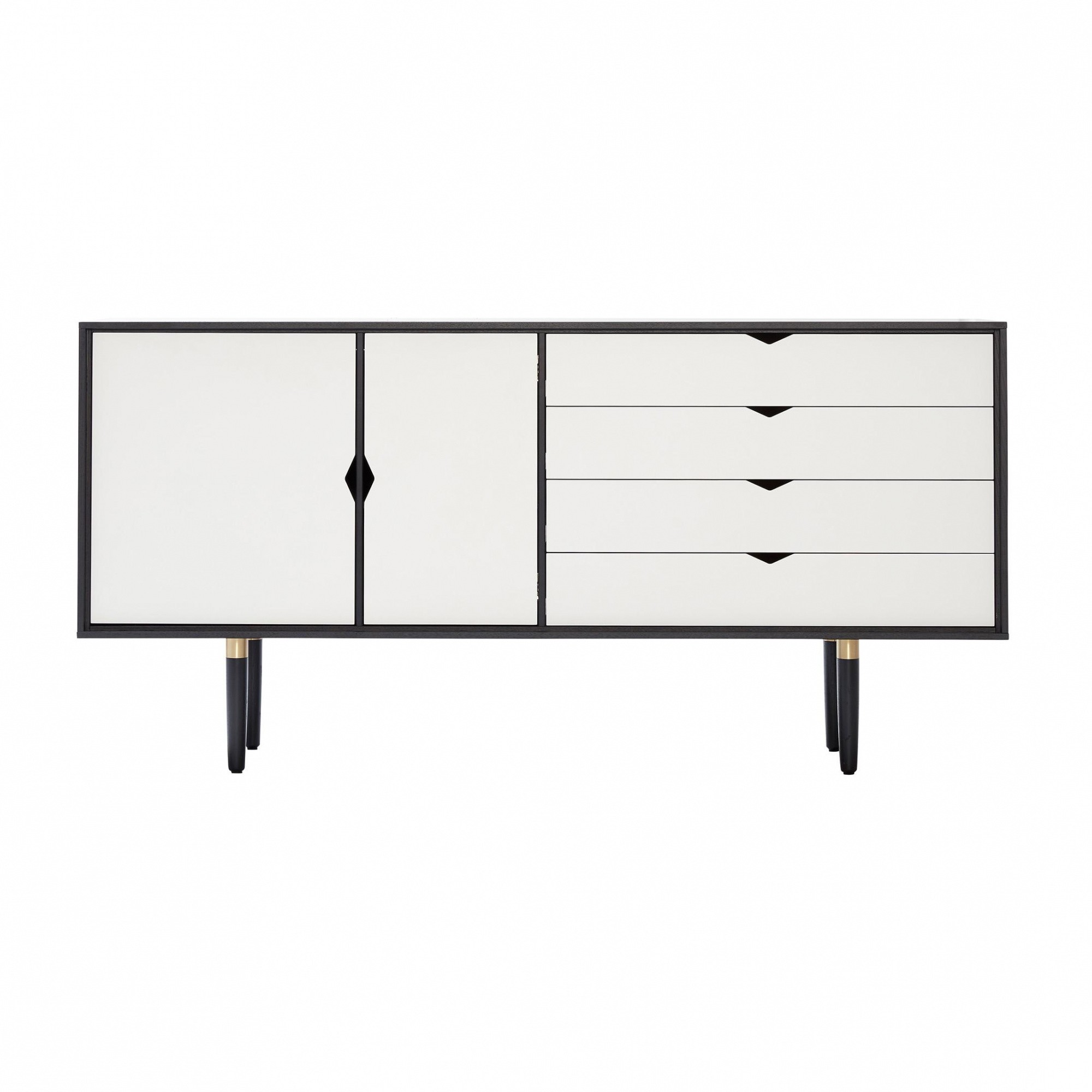 Sideboard Weiß Andersen Furniture S6 Sideboard White Fronts