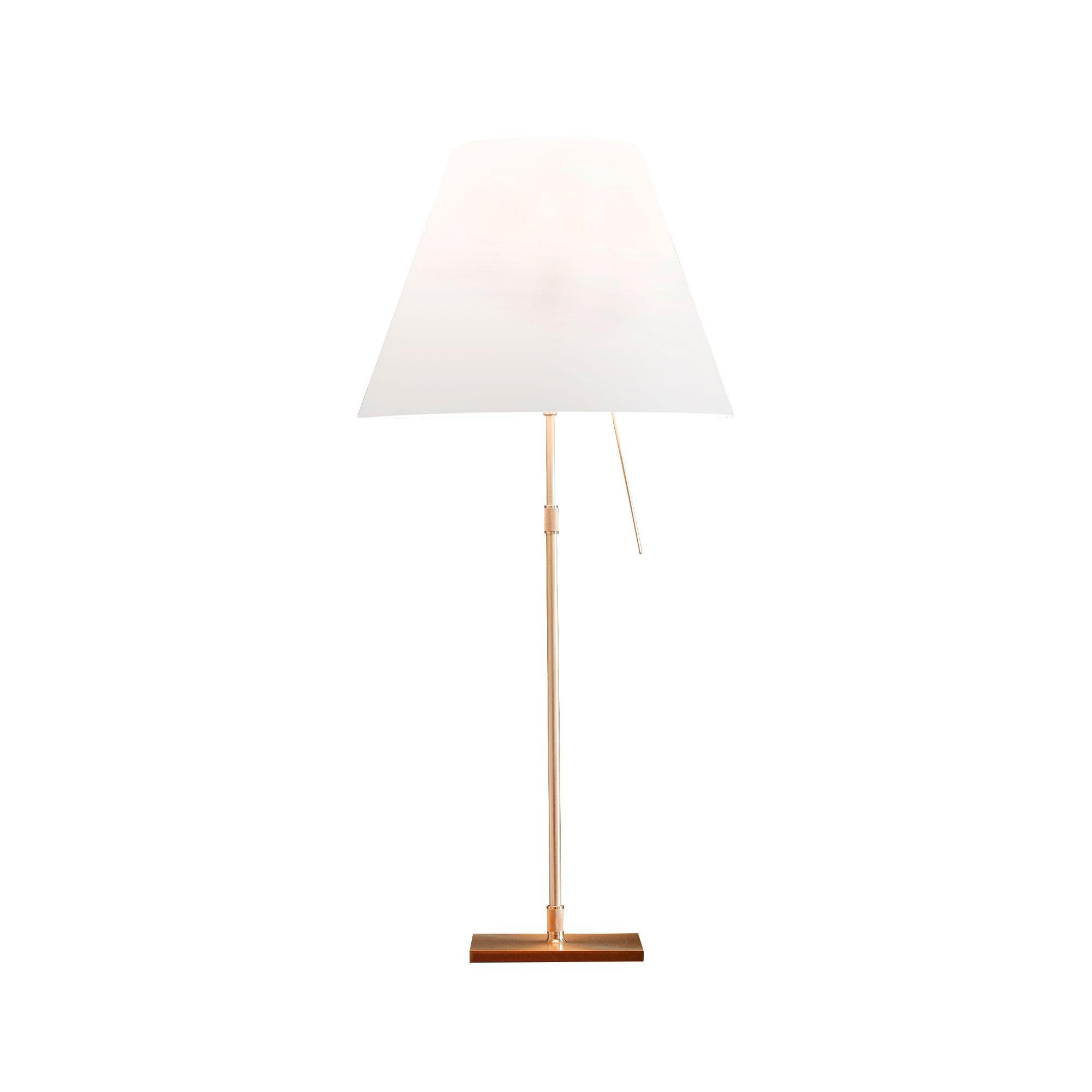 Luceplan Costanza Costanza Brass Table Lamp With Base