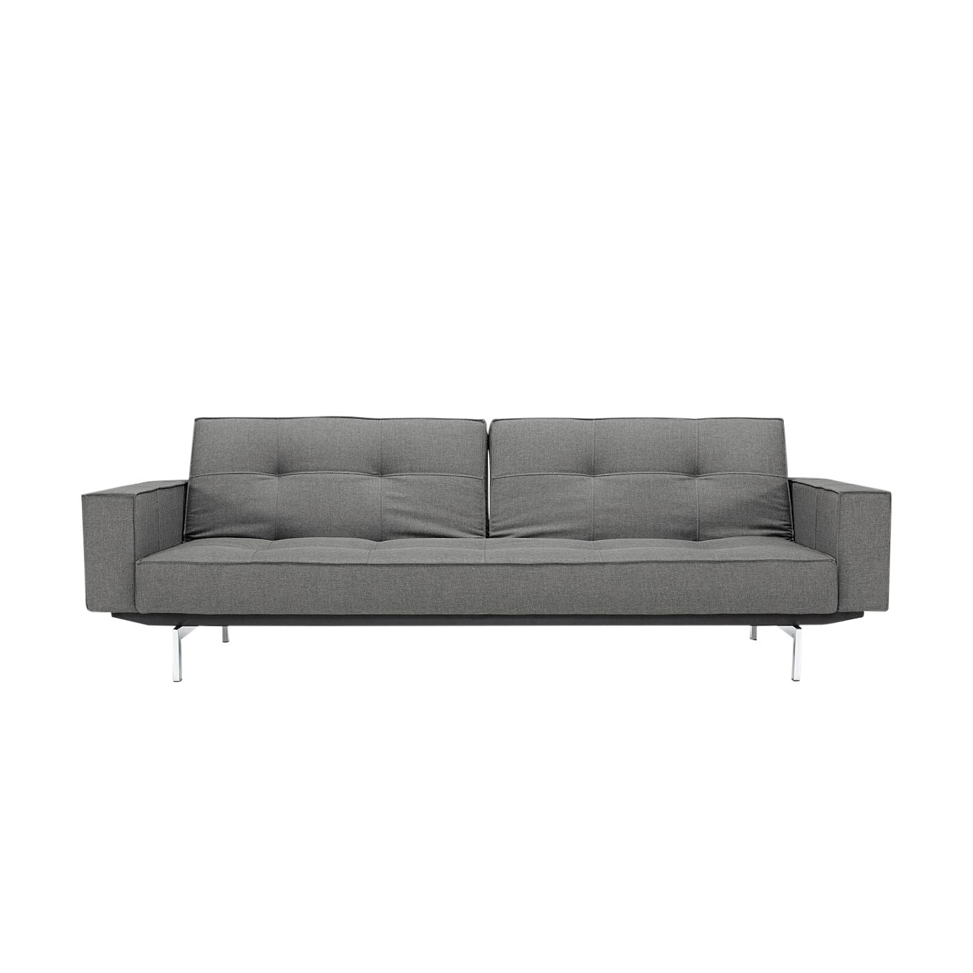 Sofa Grau Splitback Sofa Bed With Armrests