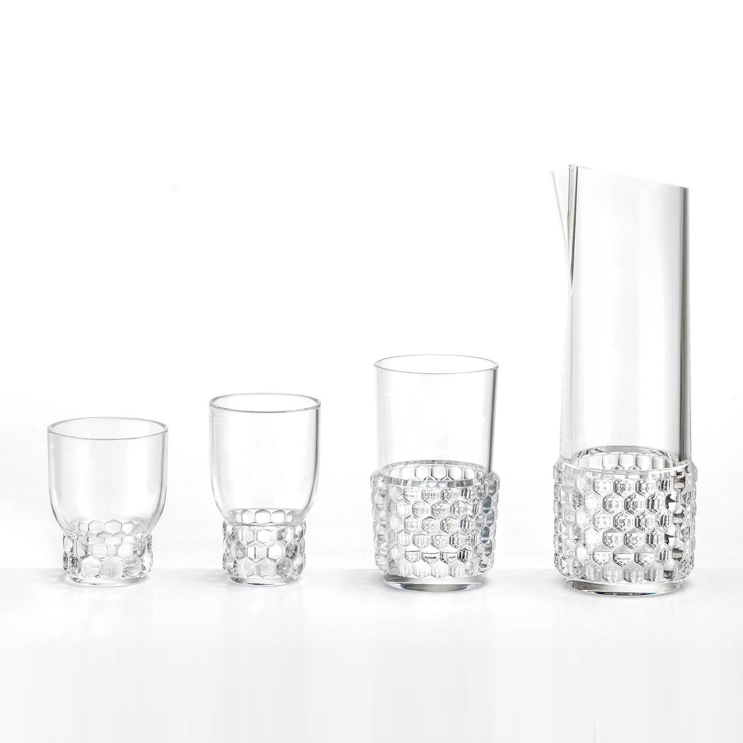 Weingläser Modern Kartell Jellies Family Wine Glass Set Of 4 | Ambientedirect