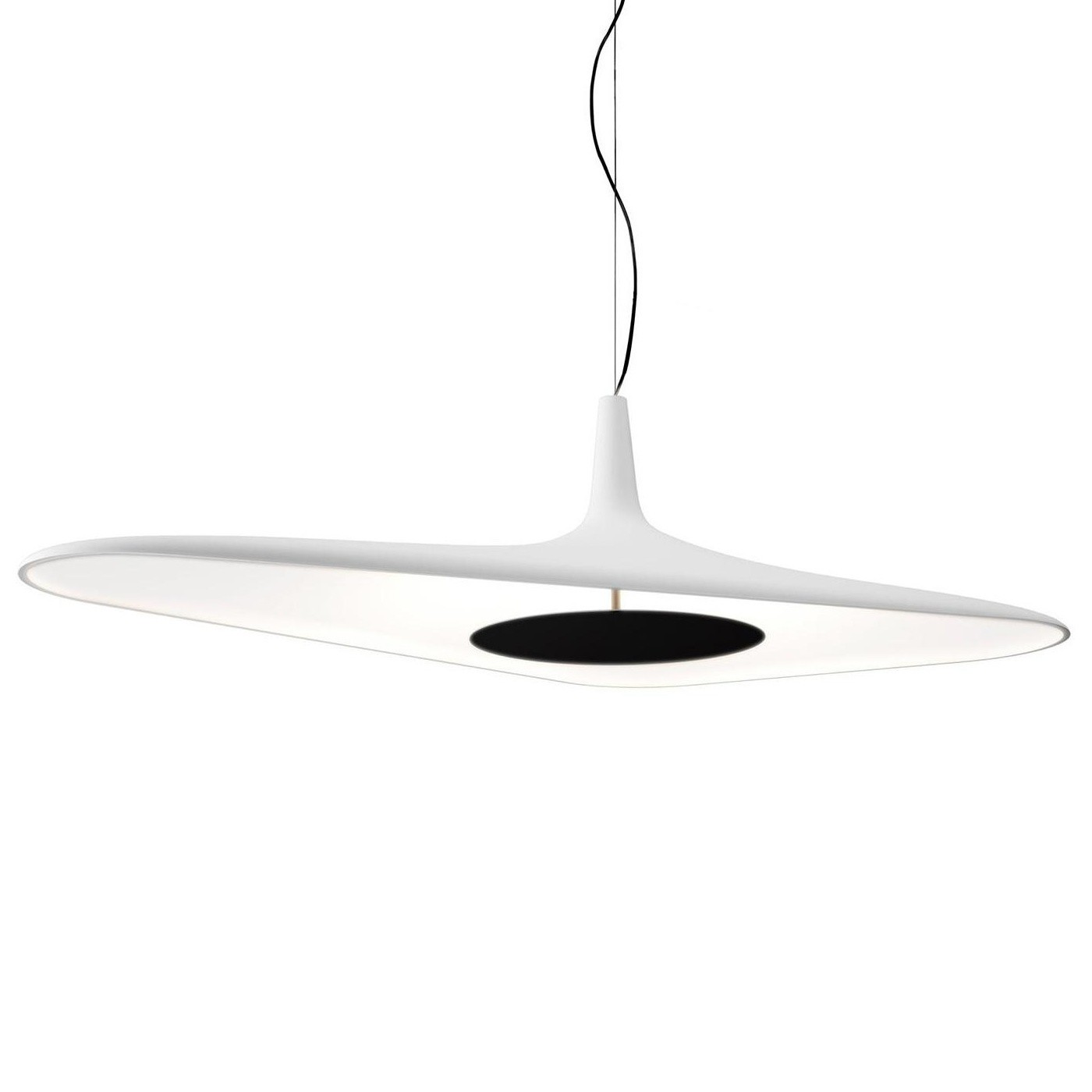Suspension Noir Metal Soleil Noir D89 Led Suspension Lamp