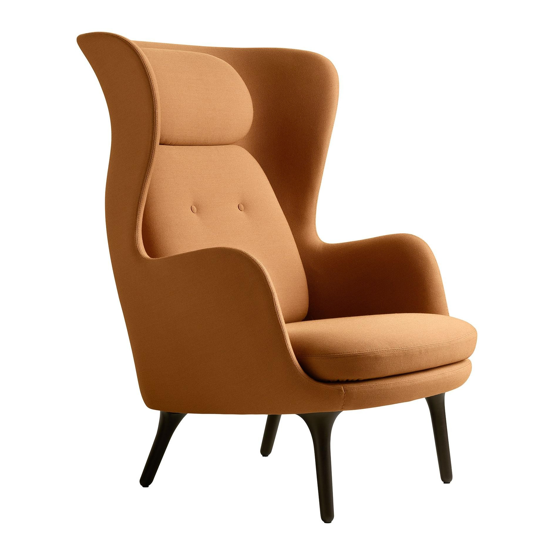 Sessel Ro Fritz Hansen Ro Jh1 Armchair Dark Brown Base