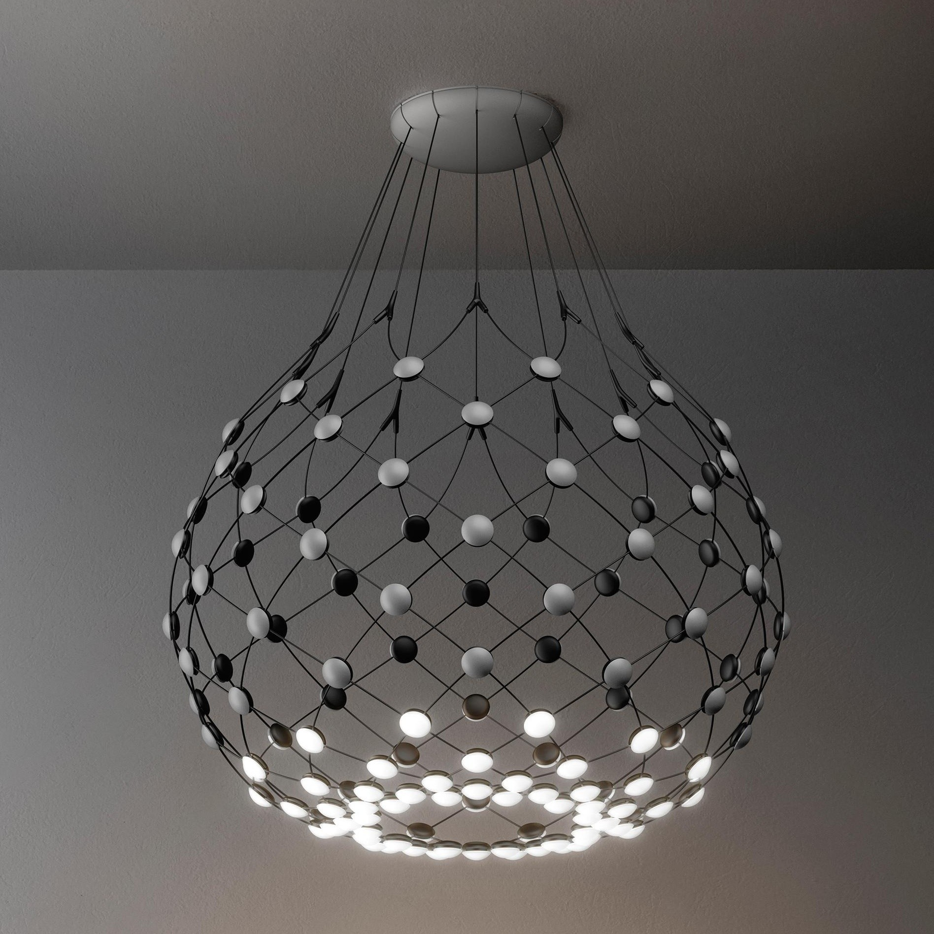 Luceplan Mesh Led Pendelleuchte Luceplan Mesh D86 Led Suspension Lamp Ambientedirect