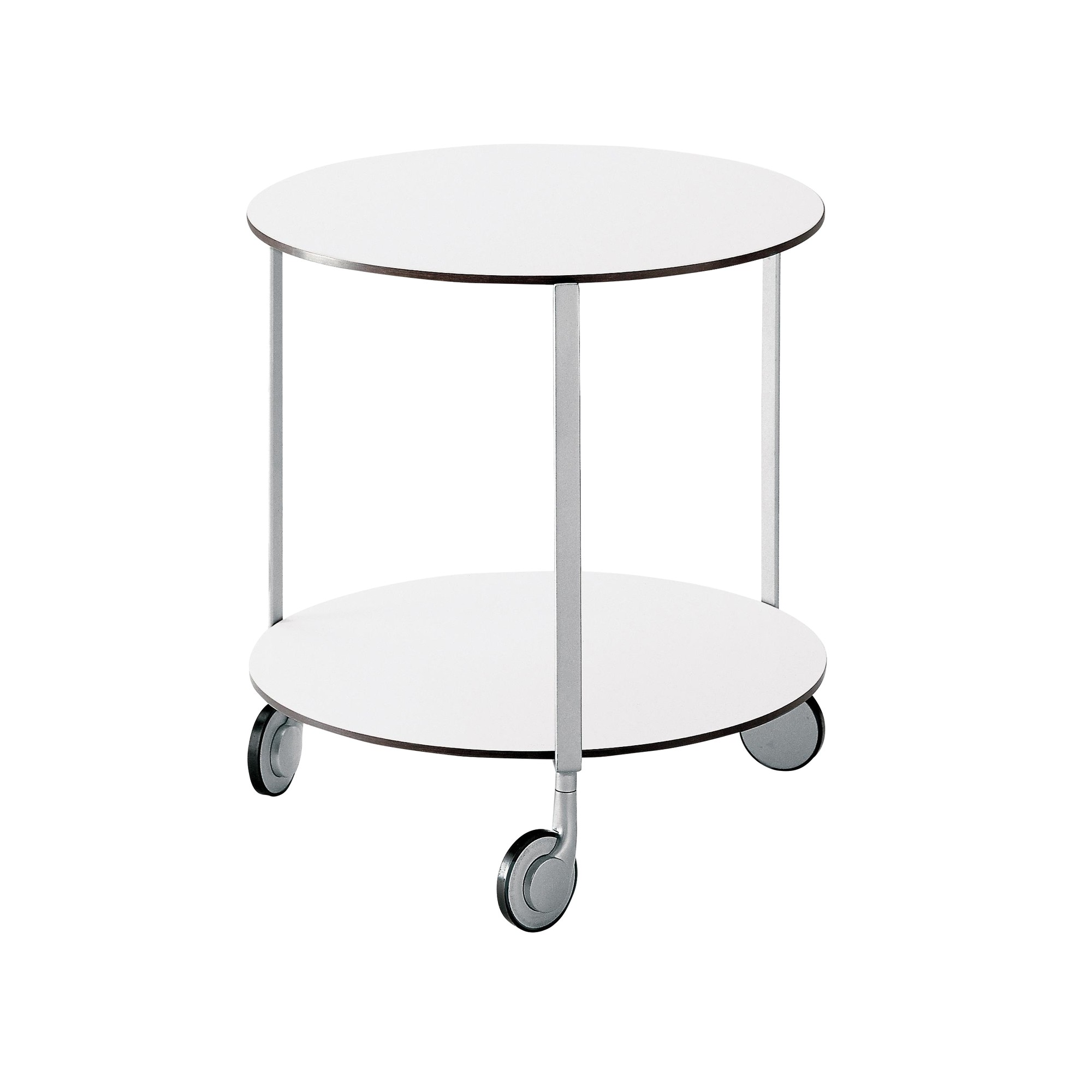 Zanotta Girò 635 Castor Mounted Table With Wheels Ambientedirect