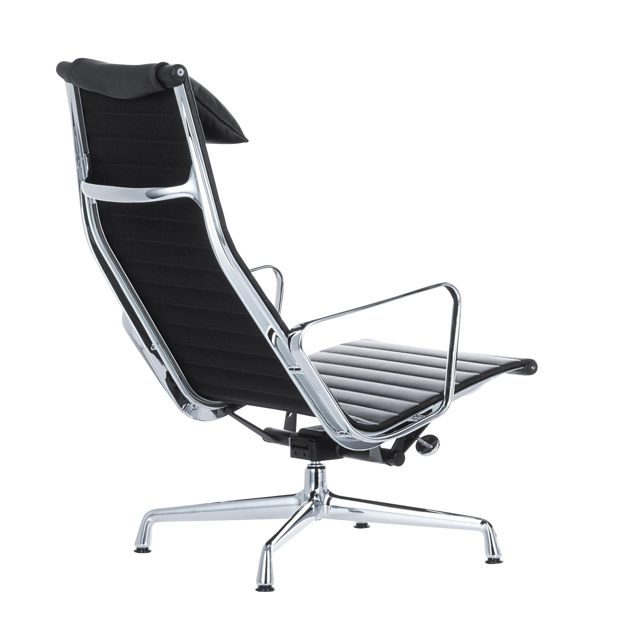 Drehsessel Leder Ea 124 Aluminium Chair Swivel Chair