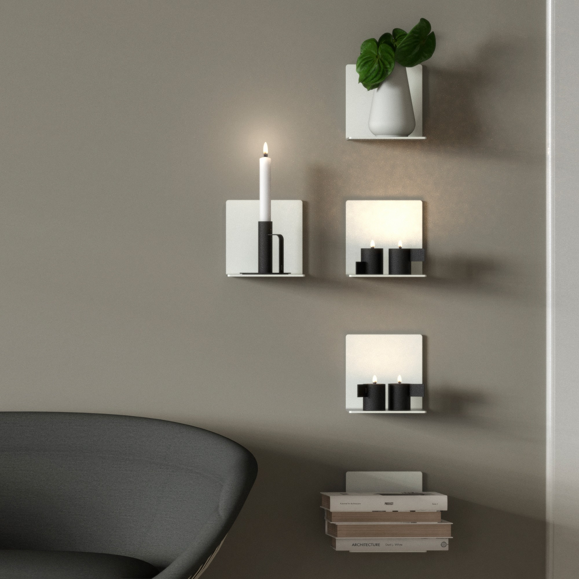 Frost Unu 4020 Wall Shelf 15x15x15cm Ambientedirect