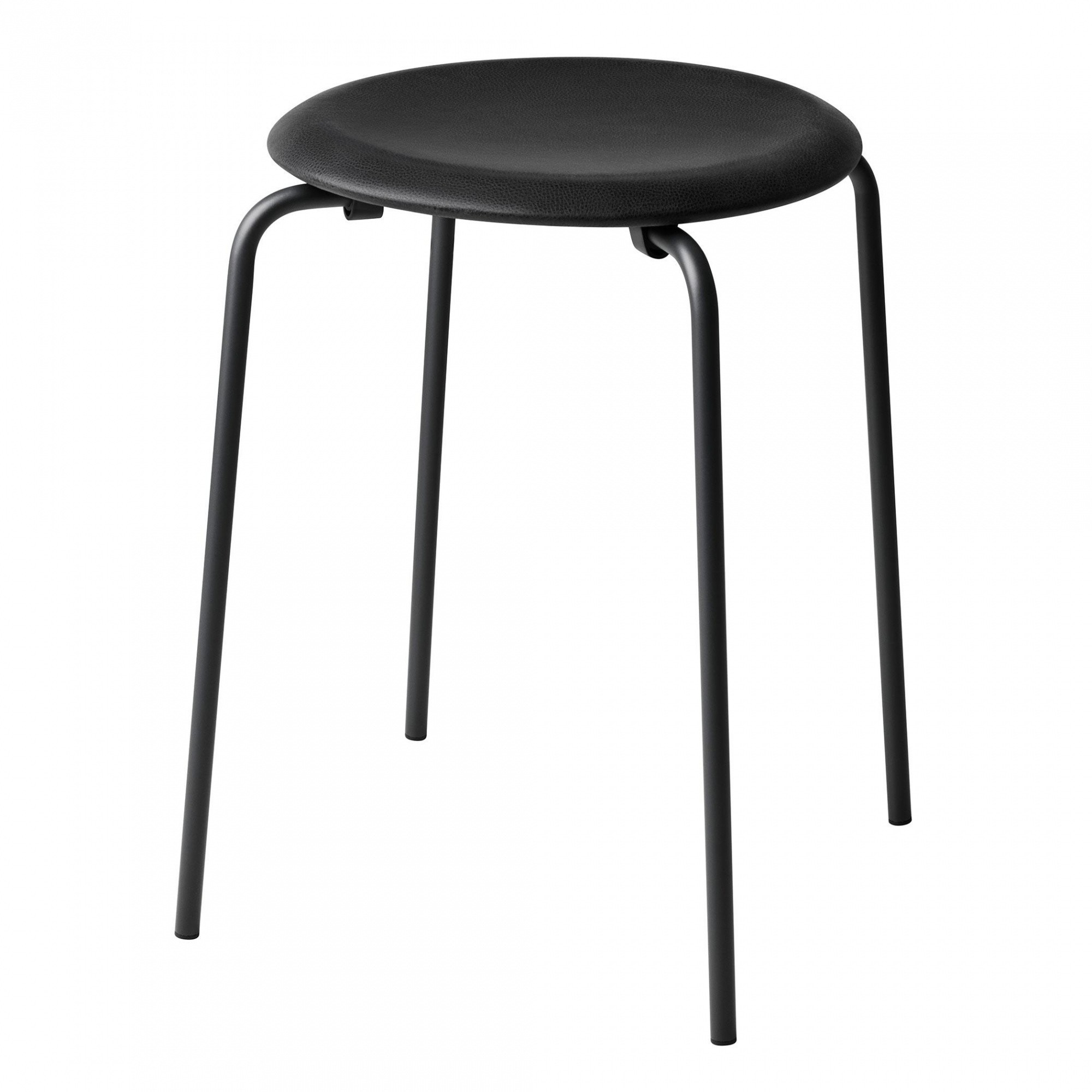Hocker Leder Dot Hocker Leder Gestell Schwarz