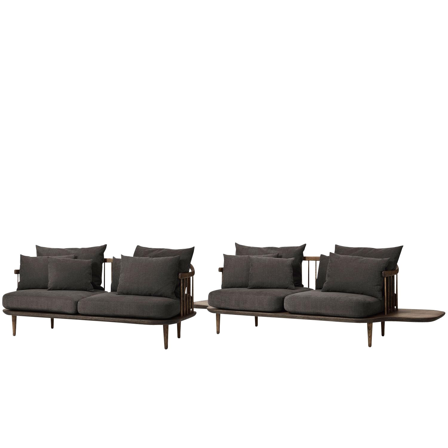 2er Sofa 2 Sitzer Fly Sc3 2 Seater Sofa With Side Tables