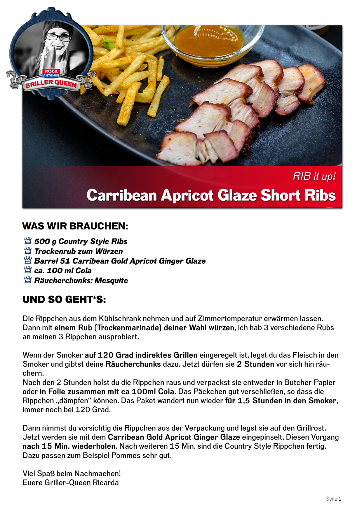 Queen Bilder Zum Ausdrucken Rib It Up Carribean Apricot Glaze Short Ribs Rock Antenne