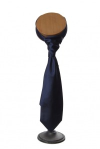 Navy blue velvet Grooms wedding tie - Anthony Formal Wear