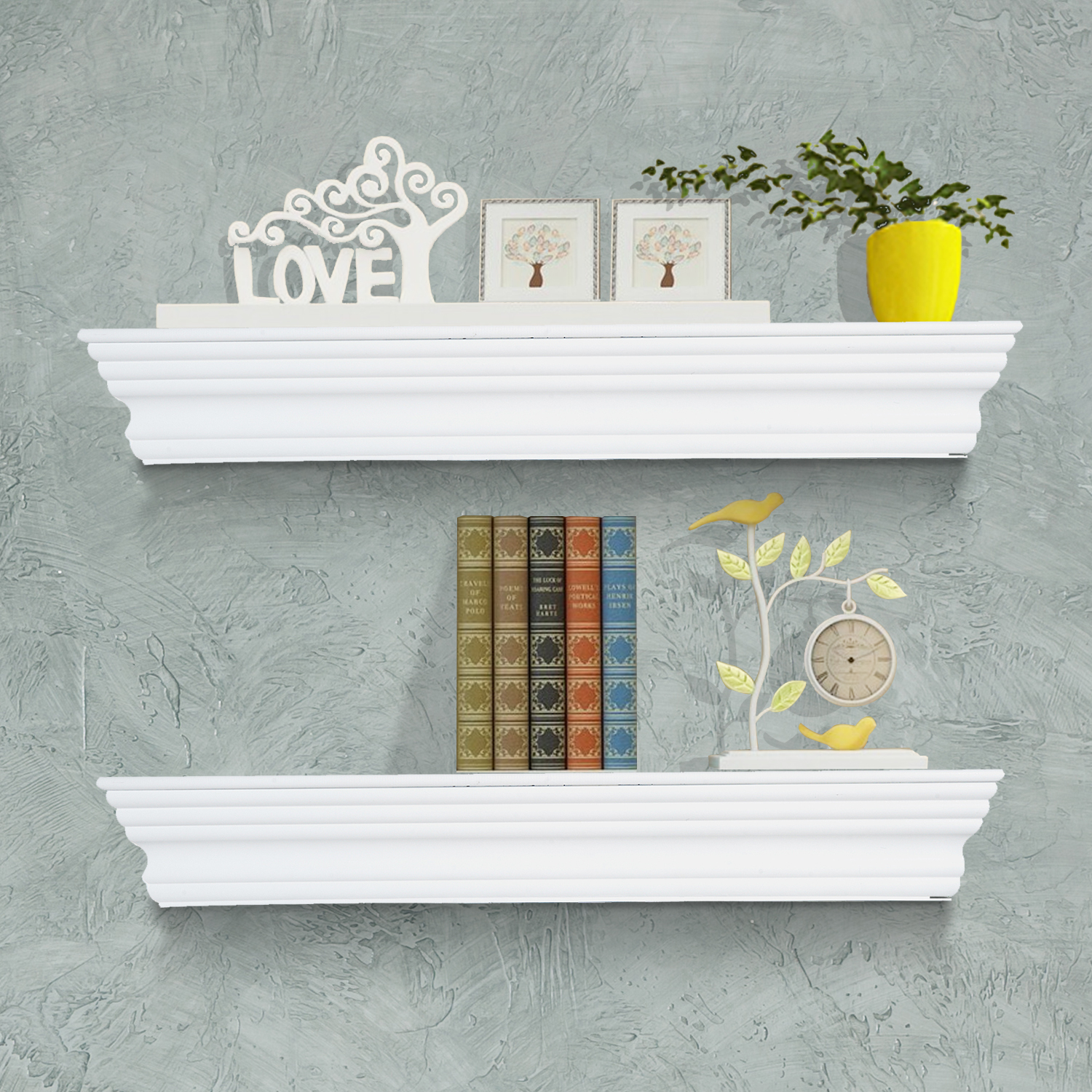 Wall Mounted Shelves Canada Cad 39 99 Homcom Floating Wall Shelf Ledge Mounted Display