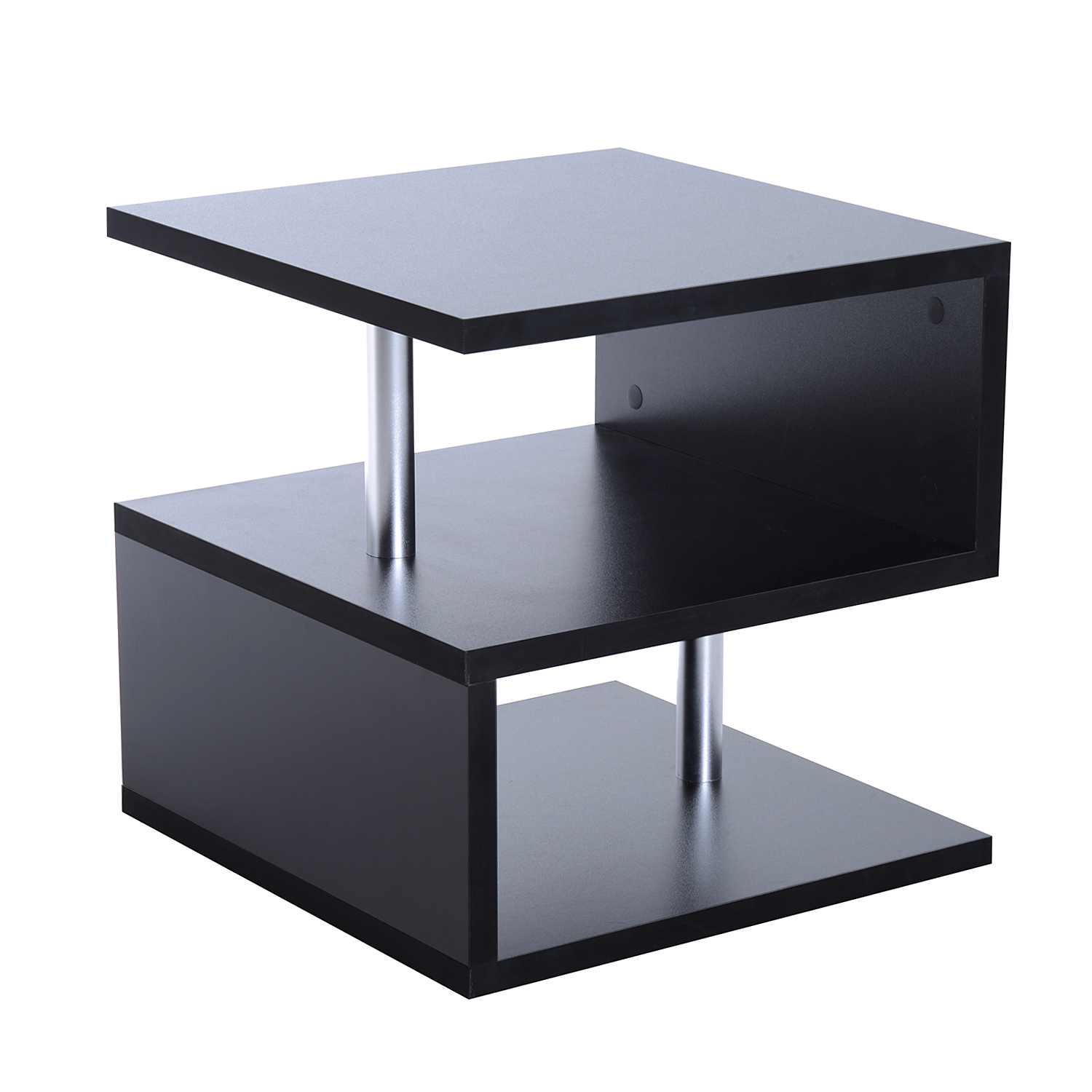 Table Basse Salon Moderne Eur50 75 Homcom Table Basse Carré De Salon Moderne 2 Tagères