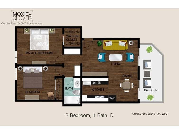 Moxie + Clover Apartments Los Angeles, CA Apartments   2 Bedroom Apartments  In Los Angeles