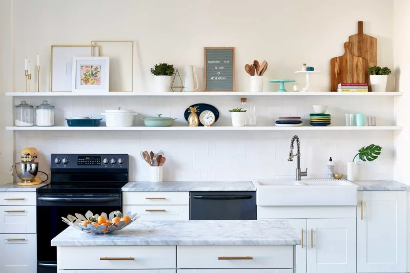 Open Kitchen Shelving Advice Secrets Apartment Therapy