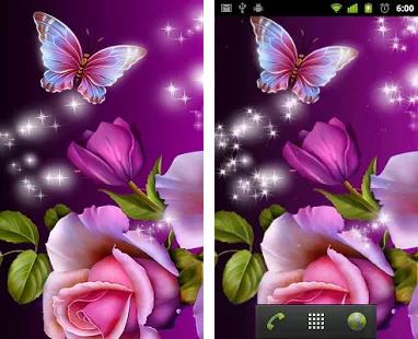 Butterflies 3d Live Wallpaper Apk Glitter Rose Wallpaper Apk Download Latest Version 10 02