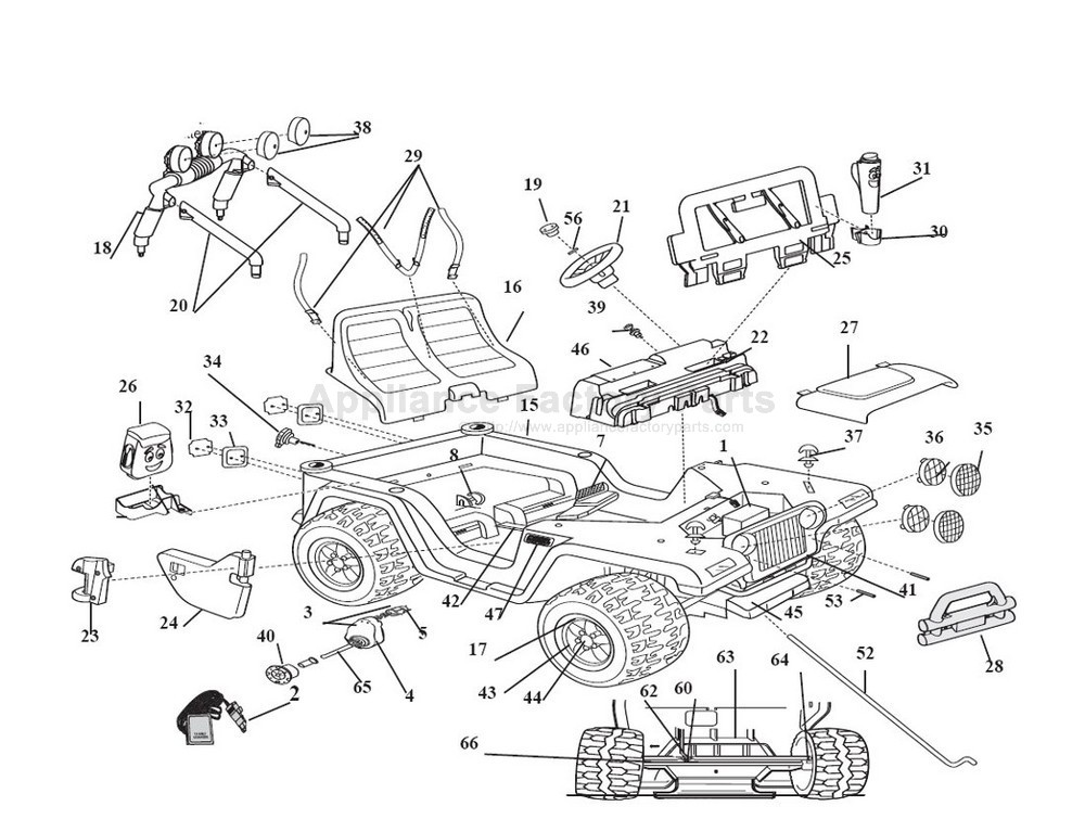 power wheels ford f 150 schematic