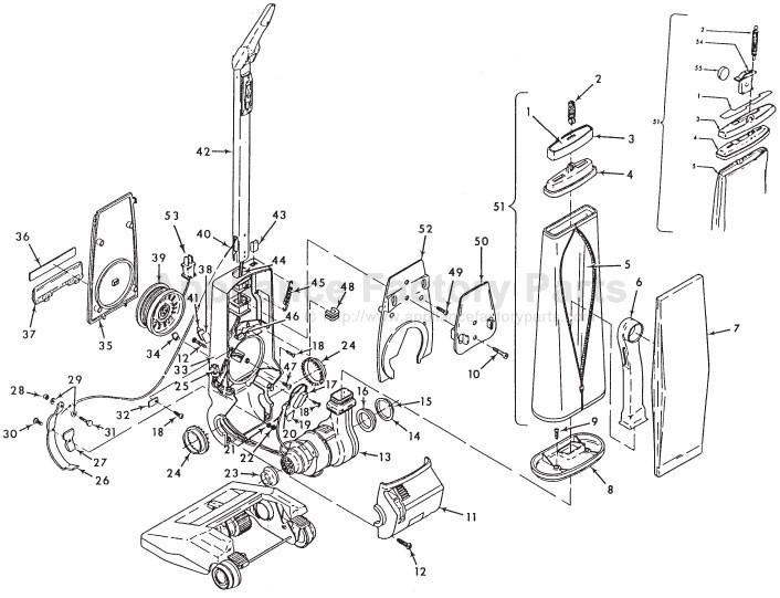 Hoover U3101 Parts Vacuum Cleaners