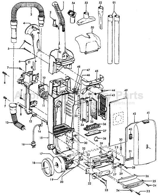 Hoover U5432-900 Parts Vacuum Cleaners