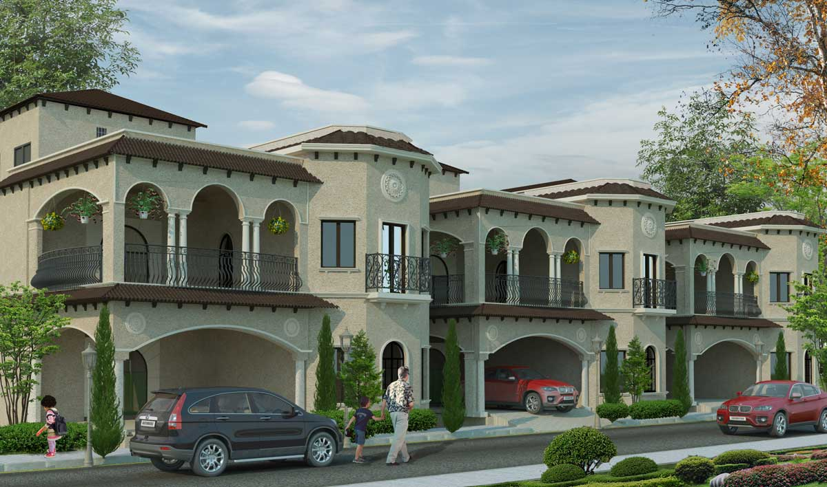 Villa Architecture Design Spanish Style Twin Houses Dhayananth G