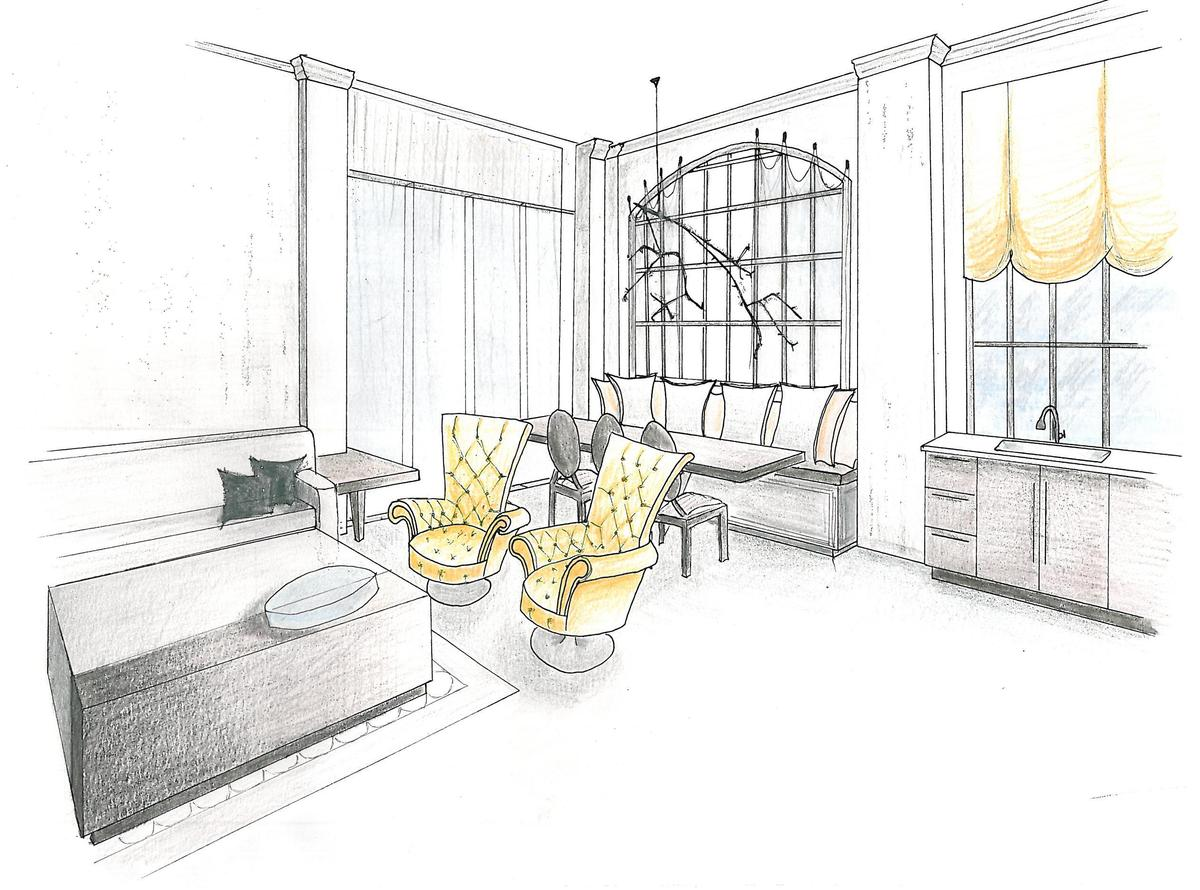 One point perspective living room drawing - Two Point Perspective Interior Yqlondononlinecom Download Living Room One Point Perspective Drawing