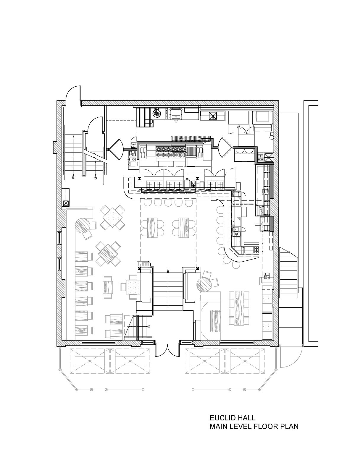 10x10 Kitchen Floor Plans Euclid Hall Bar And Kitchen Semple Brown Architects