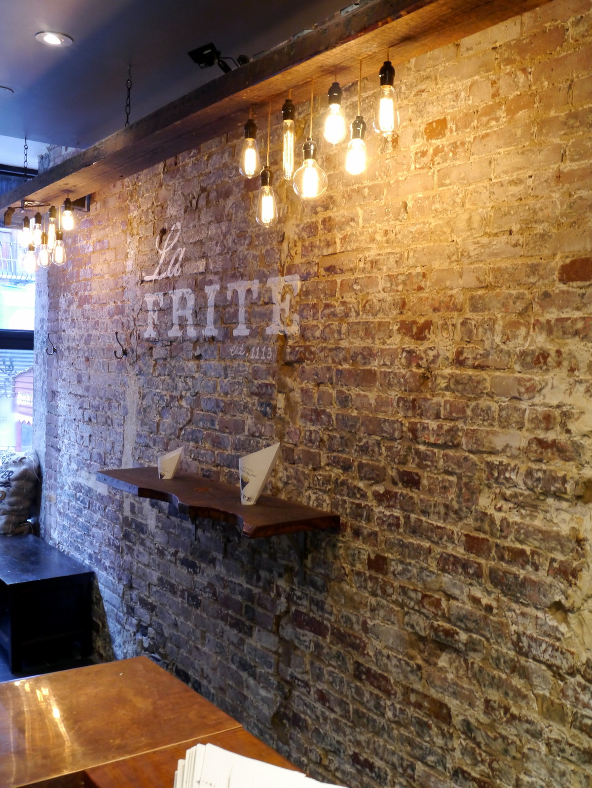 Interior Brick Walls Cafe Design Ideas With Wood And Exposed Brick Google