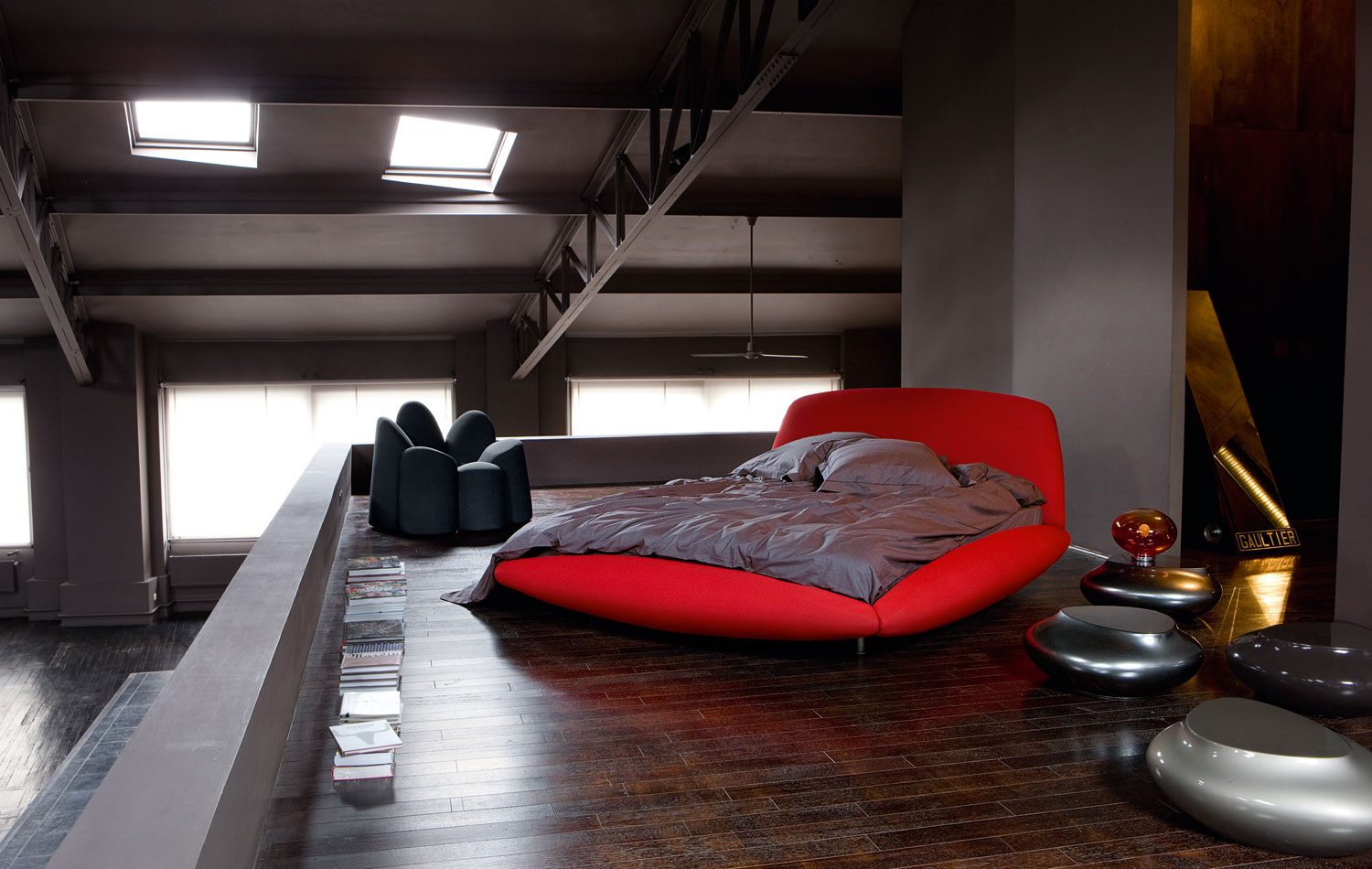 Red Black And Grey Bedrooms Bedroom Inspiration 20 Modern Beds By Roche Bobois