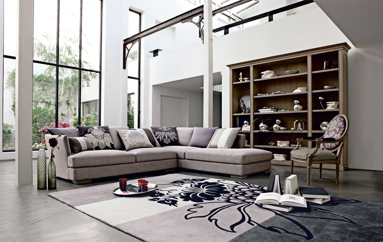 Tapis Blanc Gris Living Room Inspiration: 120 Modern Sofas By Roche Bobois