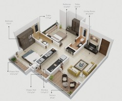 Small Of One Bedroom Apartment Plan