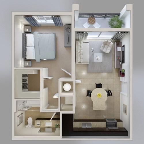 Medium Of 1 Bedroom House Plans