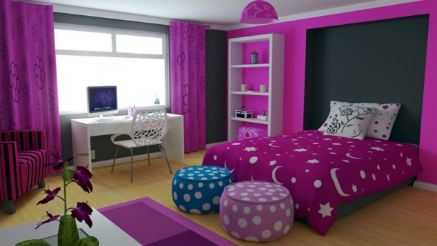 Set Kamar Anak 15+ Awesome Purple Girls Bedroom Designs | Architecture