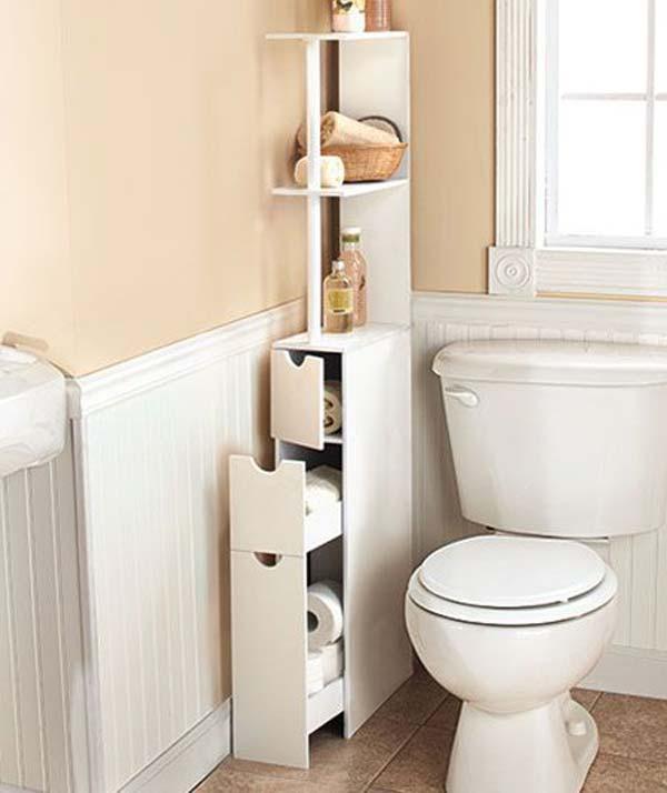 30+ Amazingly DIY Small Bathroom Storage Hacks Help You Store More - very small bathroom storage ideas
