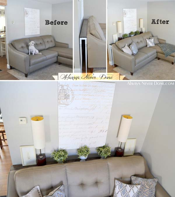 Slide Under Sofa Table 25 Amazing Ideas How To Use Your Home's Corner Space