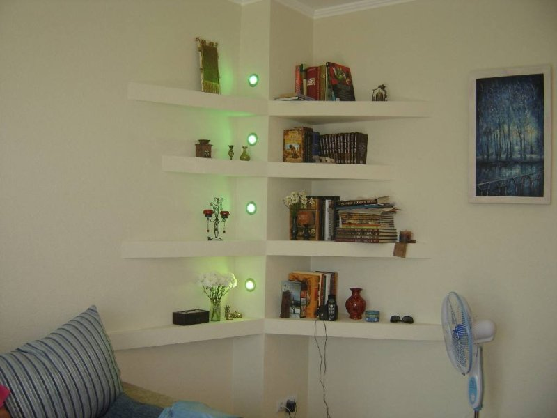 Large Of Bedroom Corner Wall Shelves